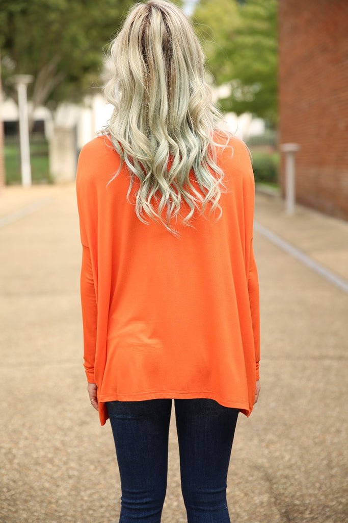 Piko Top - Orange , shirt - Love June Boutique, Love June Boutique  - 3
