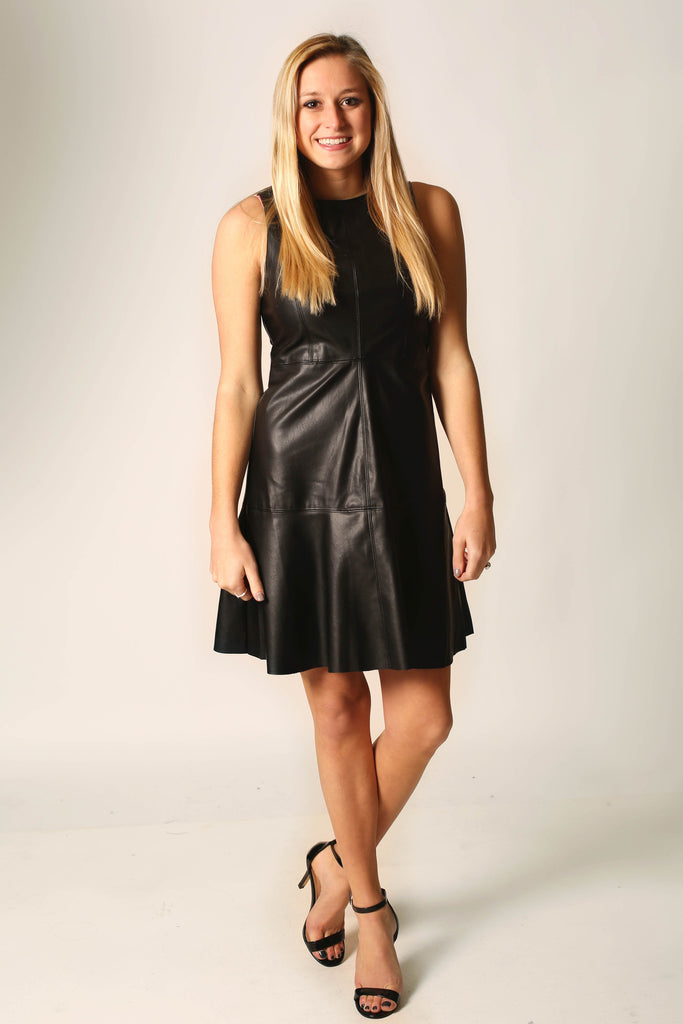 You have my vote Faux leather dress , Dress - LOVE JUNE, Love June Boutique  - 1