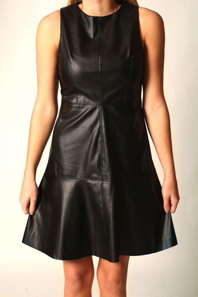 You have my vote Faux leather dress , Dress - LOVE JUNE, Love June Boutique  - 2