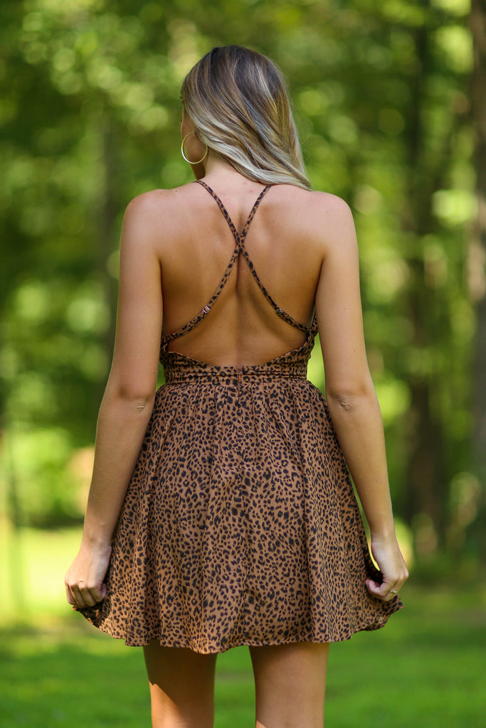 Marissa cheeta print dress