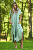 June Jersey Knit Maxi Dress