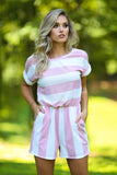 Shelly stripe terry romper