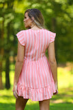 Peyton striped button up dress