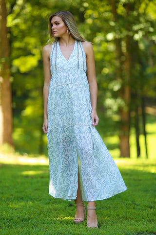 Holly snake print chiffon dress