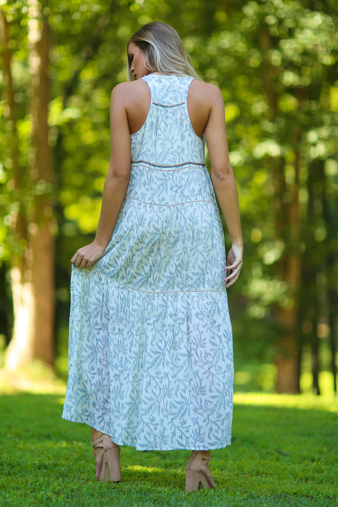 Viv Hand Stamped Maxi Dress