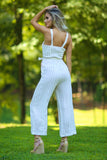 Kelsey tiped Linen Jumpsuit