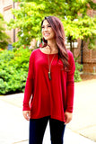 Piko top - Wine , Dress - Love June Boutique, Love June Boutique  - 2