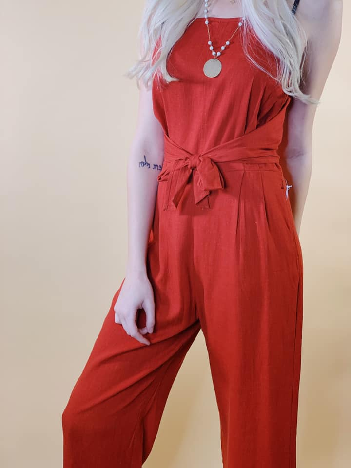 Mary square neck jumpsuit