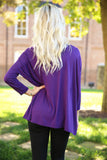 Piko - Top 3/4 sleeve - Dark Purple , shirt - Love June Boutique, Love June Boutique  - 3