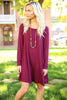 Piko Trapeze Dress - Dark Maroon , shirt - LOVE JUNE, Love June Boutique  - 4
