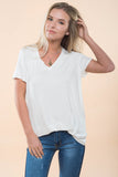 Emma V Neck Top - Ivory