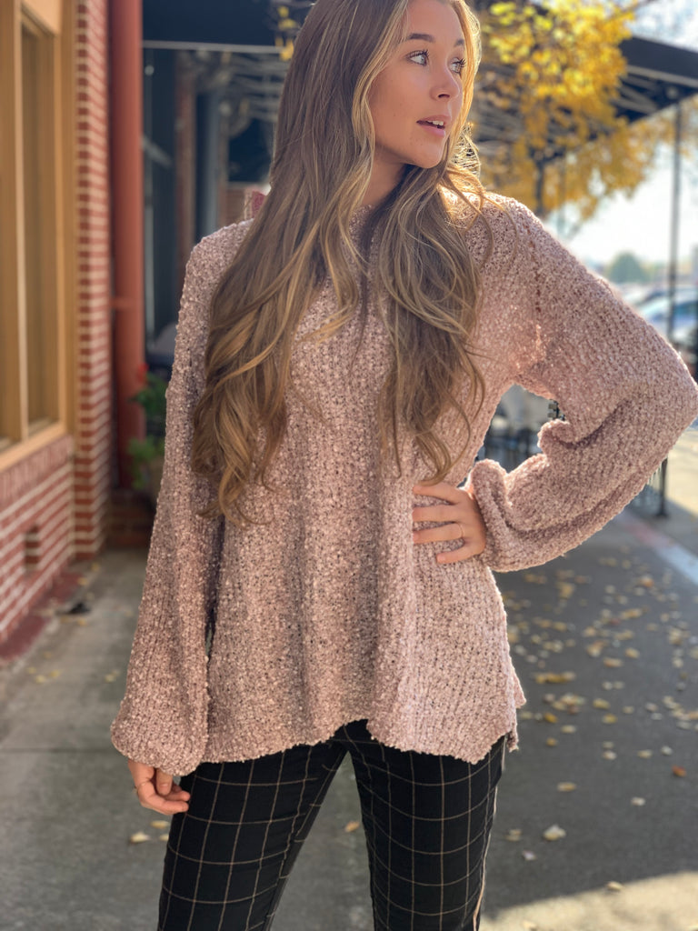 Nichole bubble sleeve top - Rose