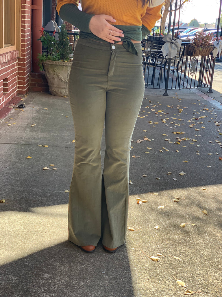 Savannah corduroy flare pants