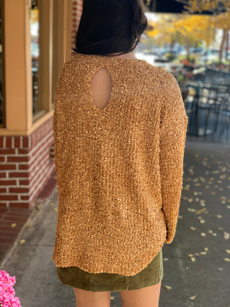 Nichole bubble sleeve top - Mustard