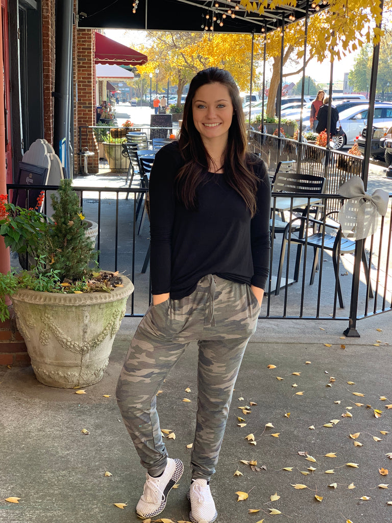 Natalie Camouflage Jersey Joggers
