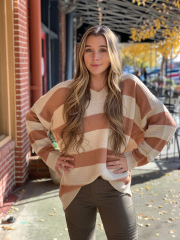 Ally Long Sleeve Knit Buttoned Front top