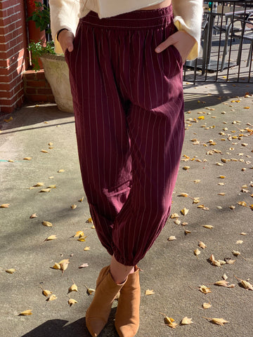 Krista button flare pants