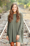 Piko Dress - Army ,  - love june, Love June Boutique  - 1