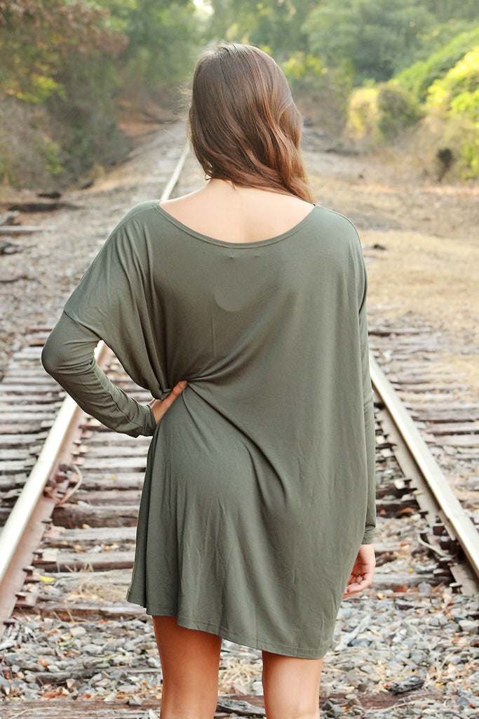 Piko Dress - Army ,  - love june, Love June Boutique  - 2