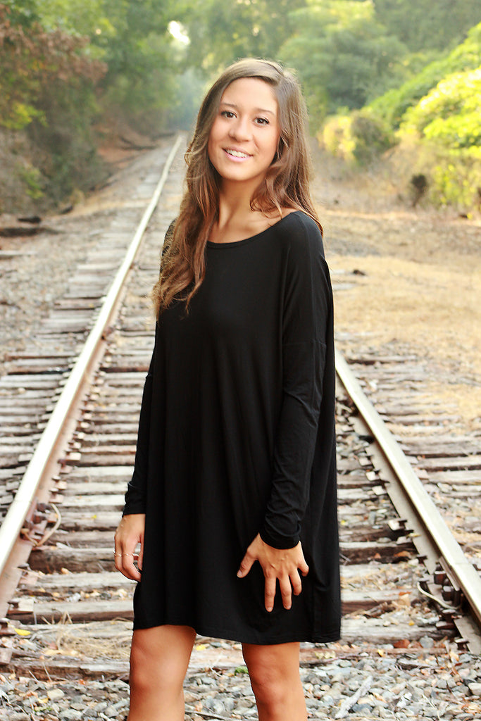 Piko Dress - Black , Dress - love june, Love June Boutique  - 1