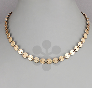 Disc Linked Necklace