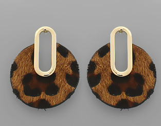 Leopard Circles Earrings