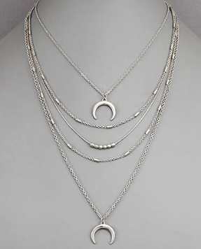 Double Horn Layer Necklace