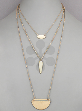 Wedge and Layer Necklace