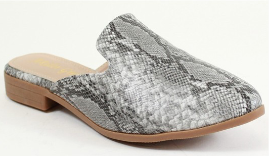 Ella Snake Skin Slip On Shoes