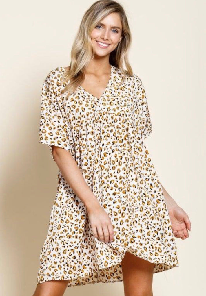 What A Wonderful Life Dress - Leopard