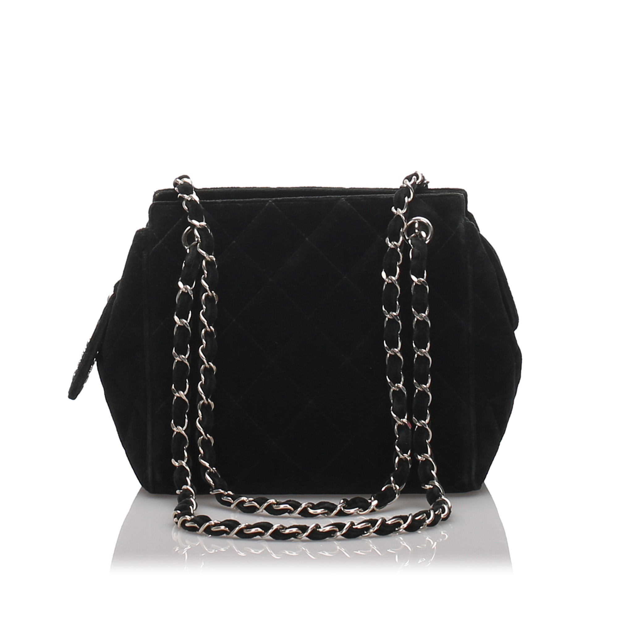 Chanel Black Suede Chain Shoulder Bag