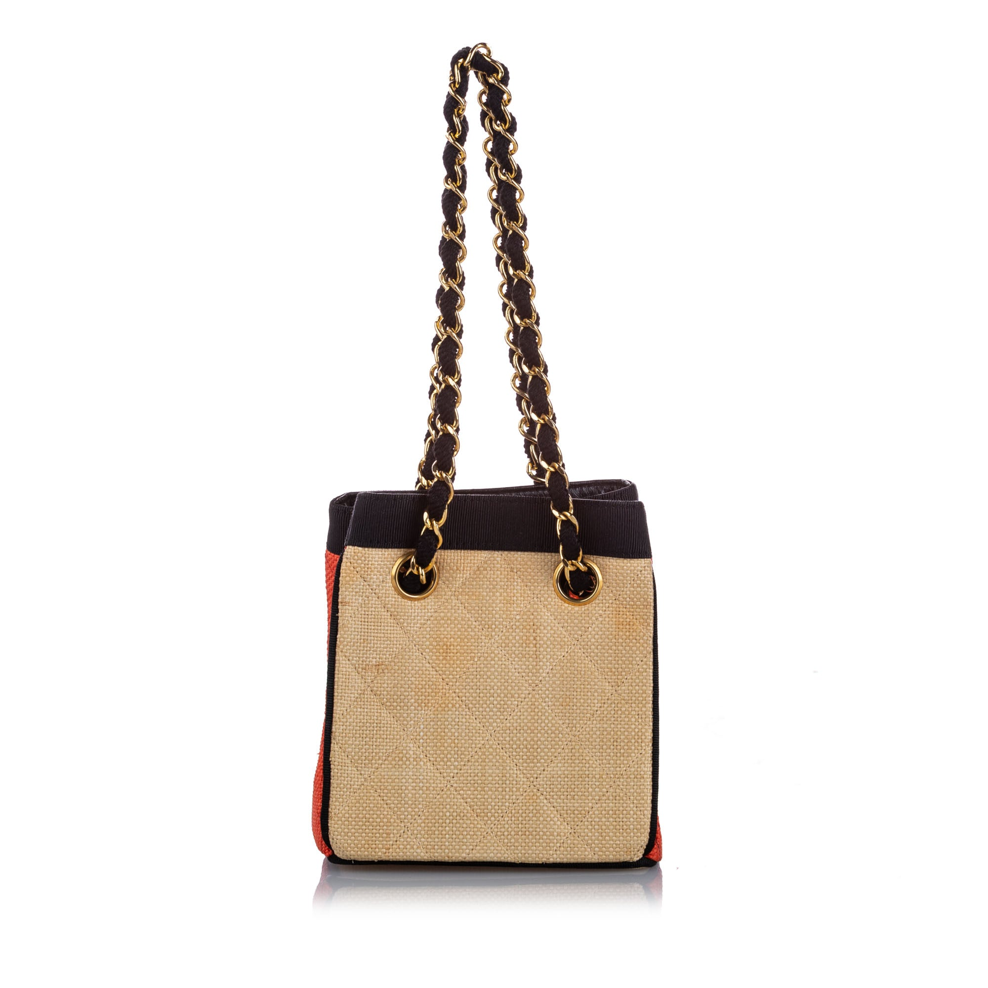 Chanel Brown Classic Canvas Shoulder Bag