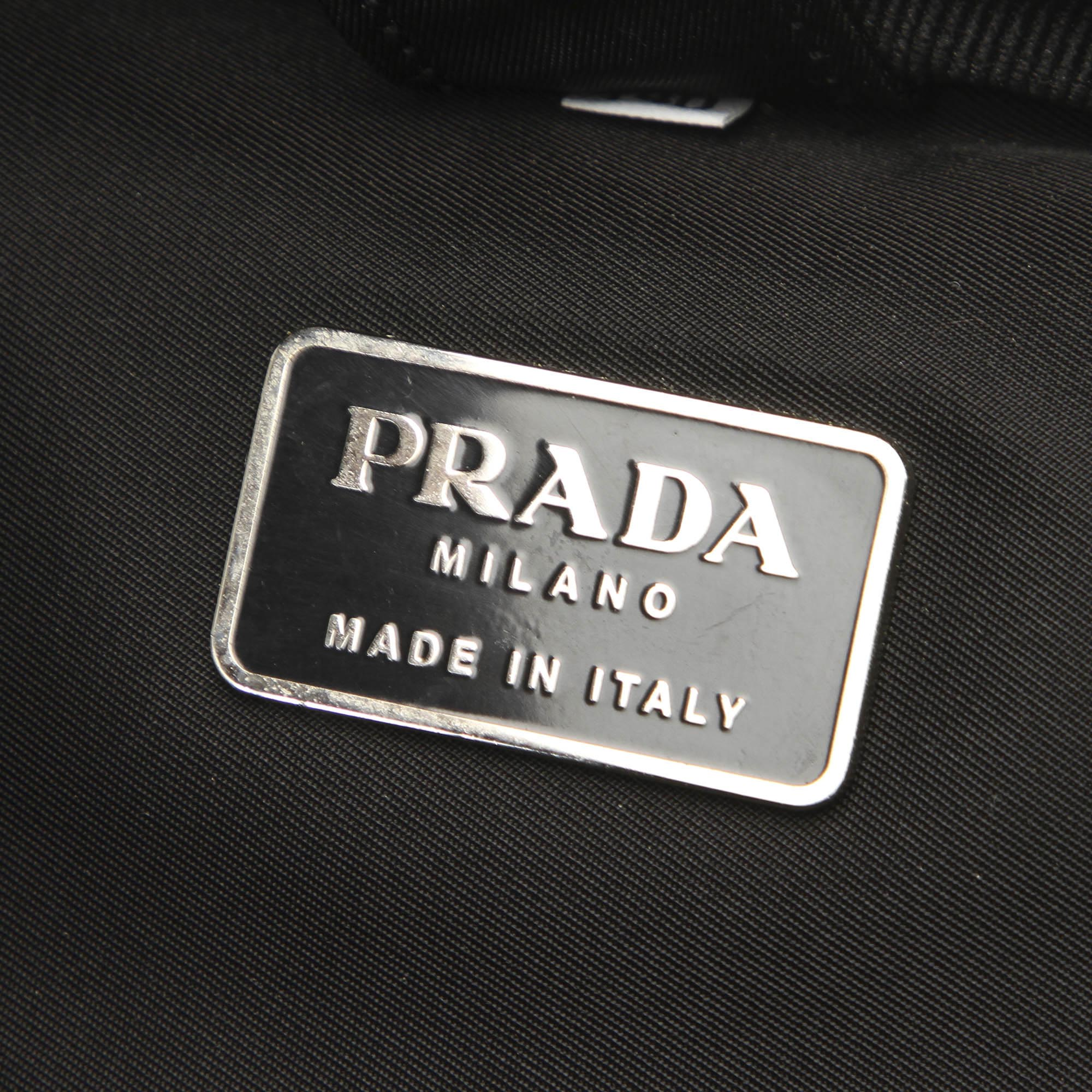 Prada Black Tessuto Business Bag