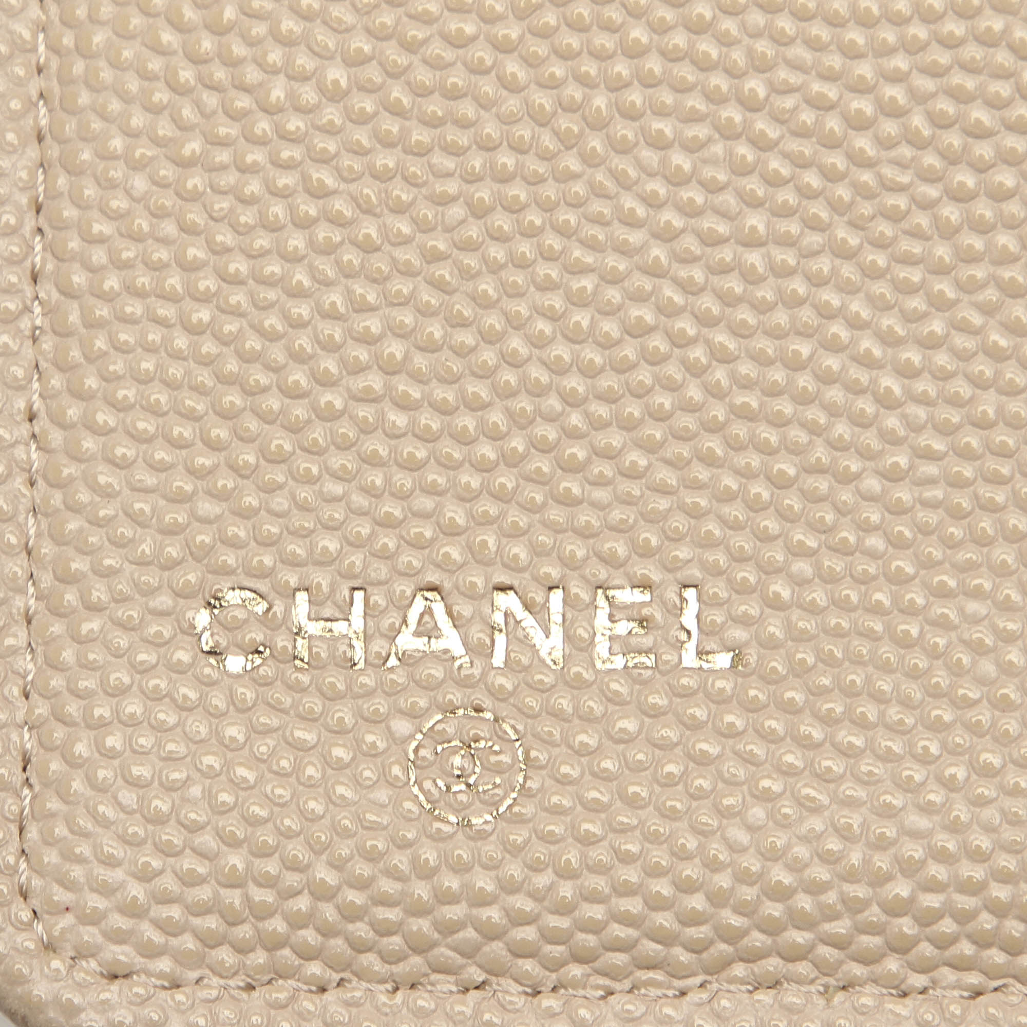 Chanel Brown CC Caviar Leather Bifold Wallet