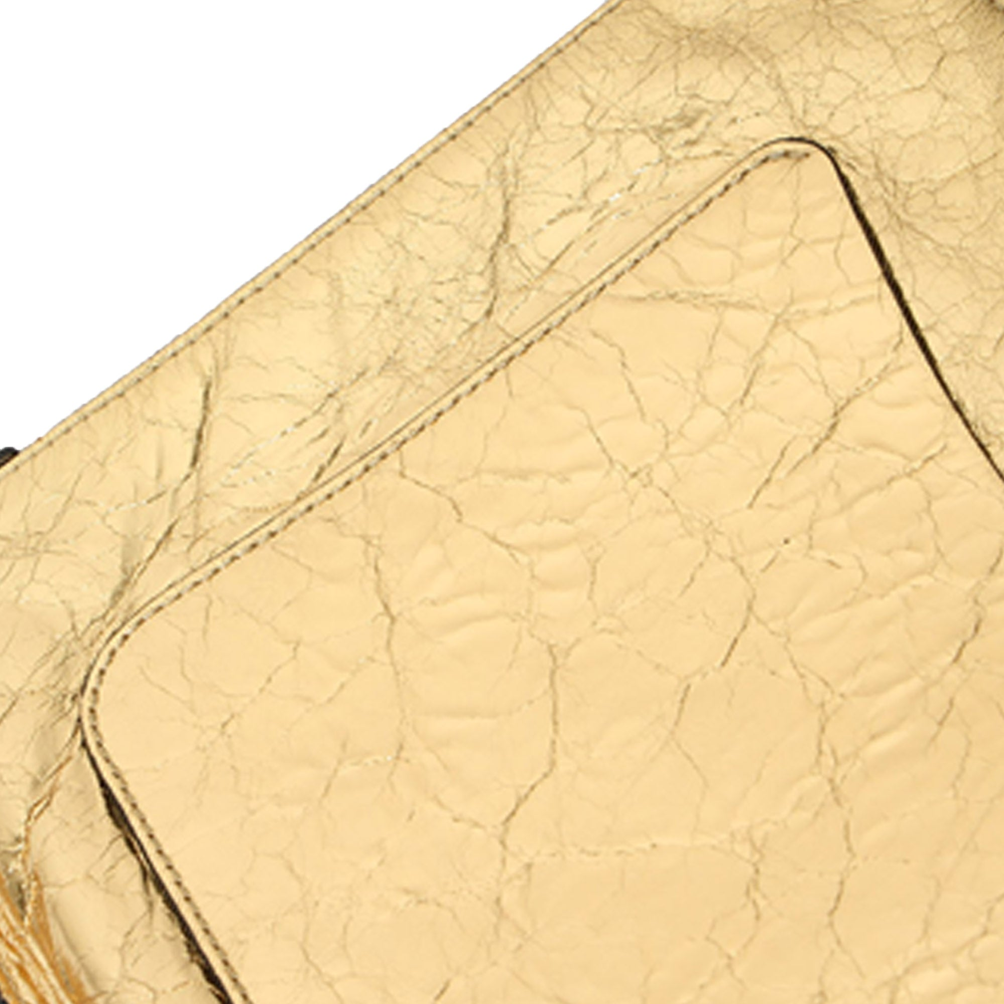 Chanel Gold Je Ne Suis Pas En Solde Clutch Bag