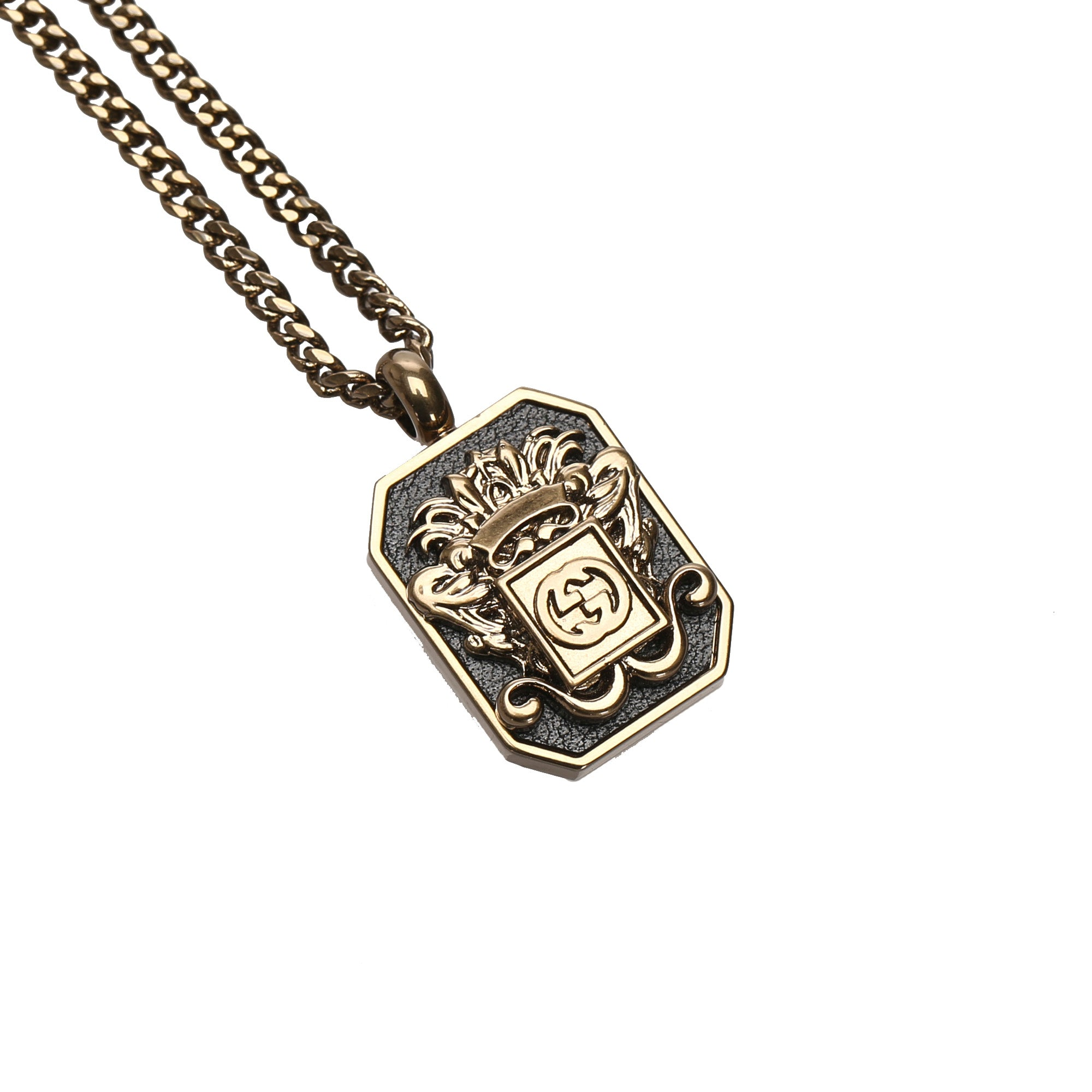 Gucci Gold Interlocking G Pendant Necklace