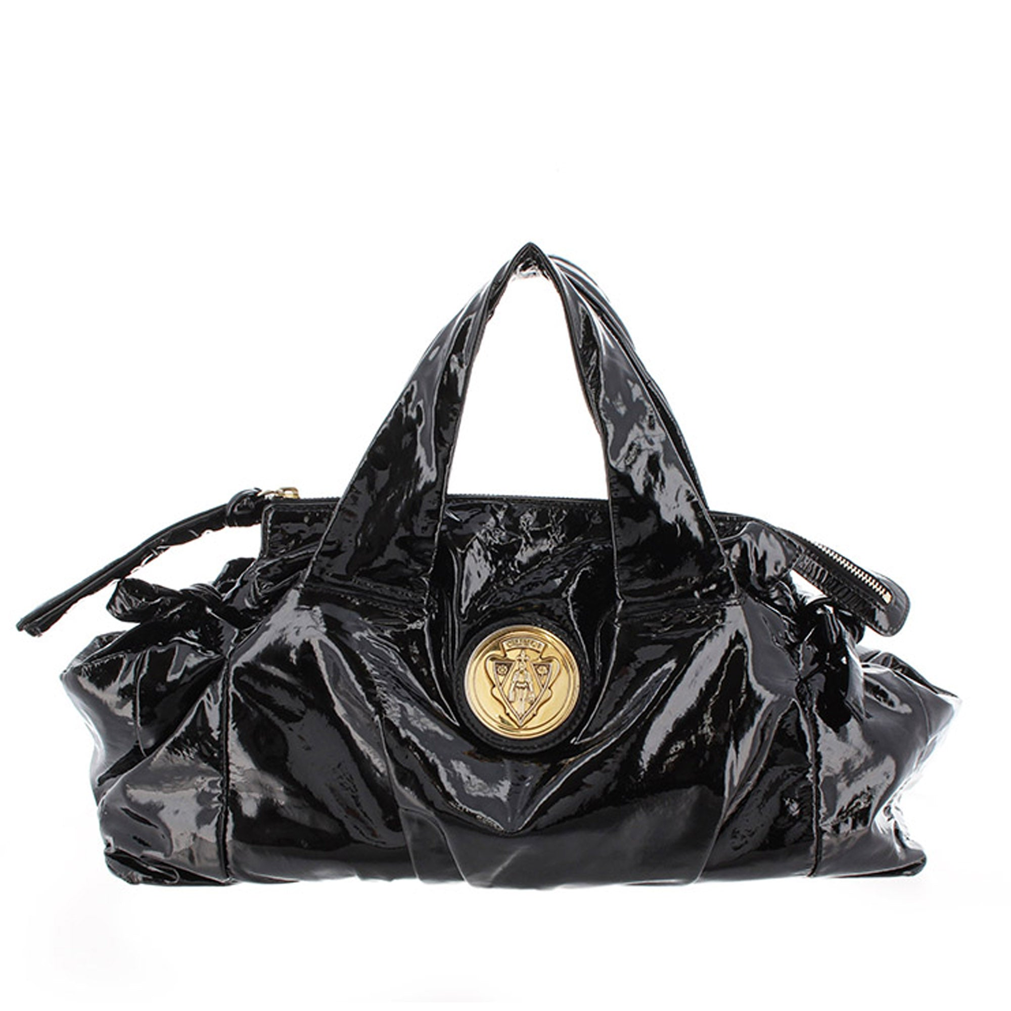 Gucci Black Hysteria Patent Leather Handbag