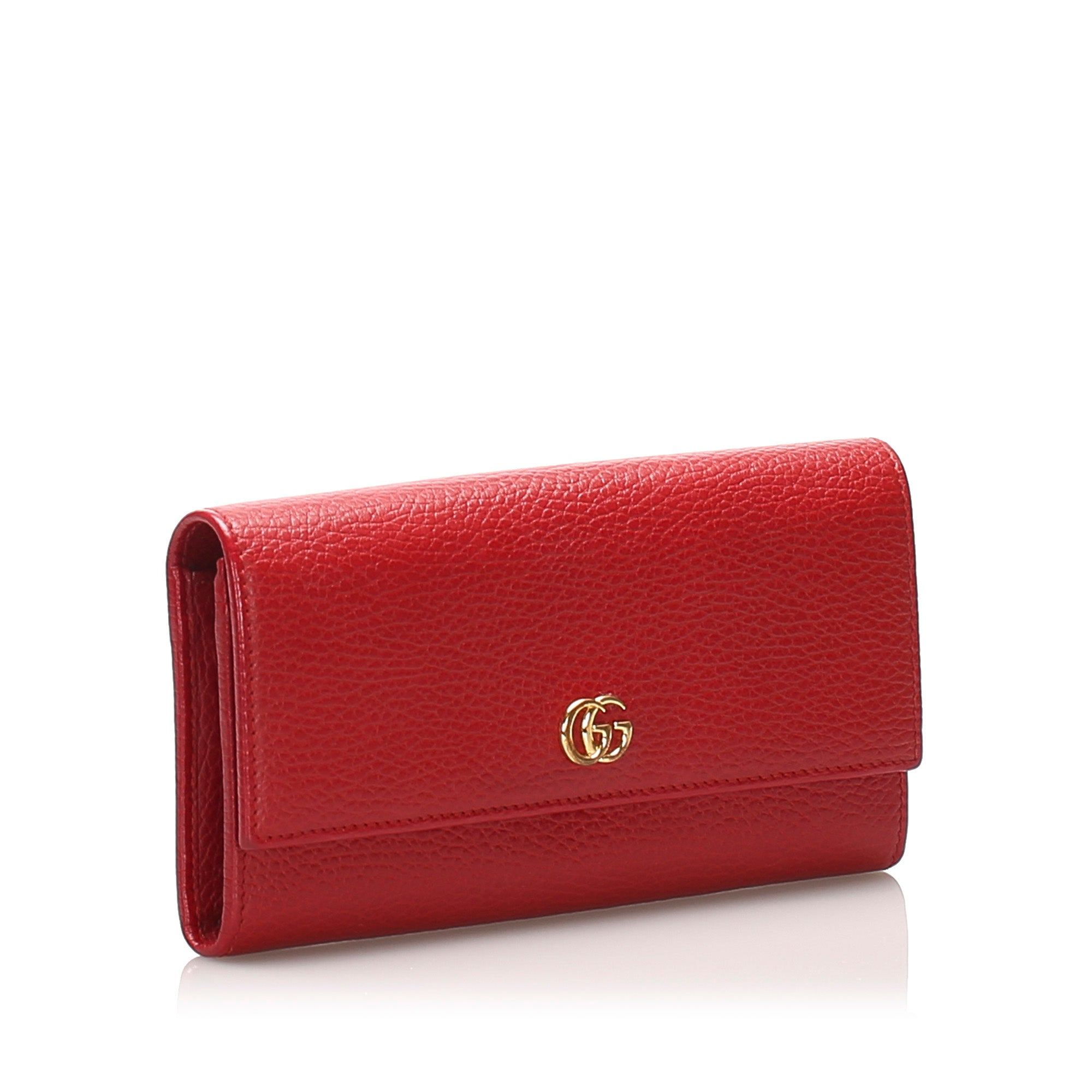 Gucci Red GG Marmont Continental Wallet