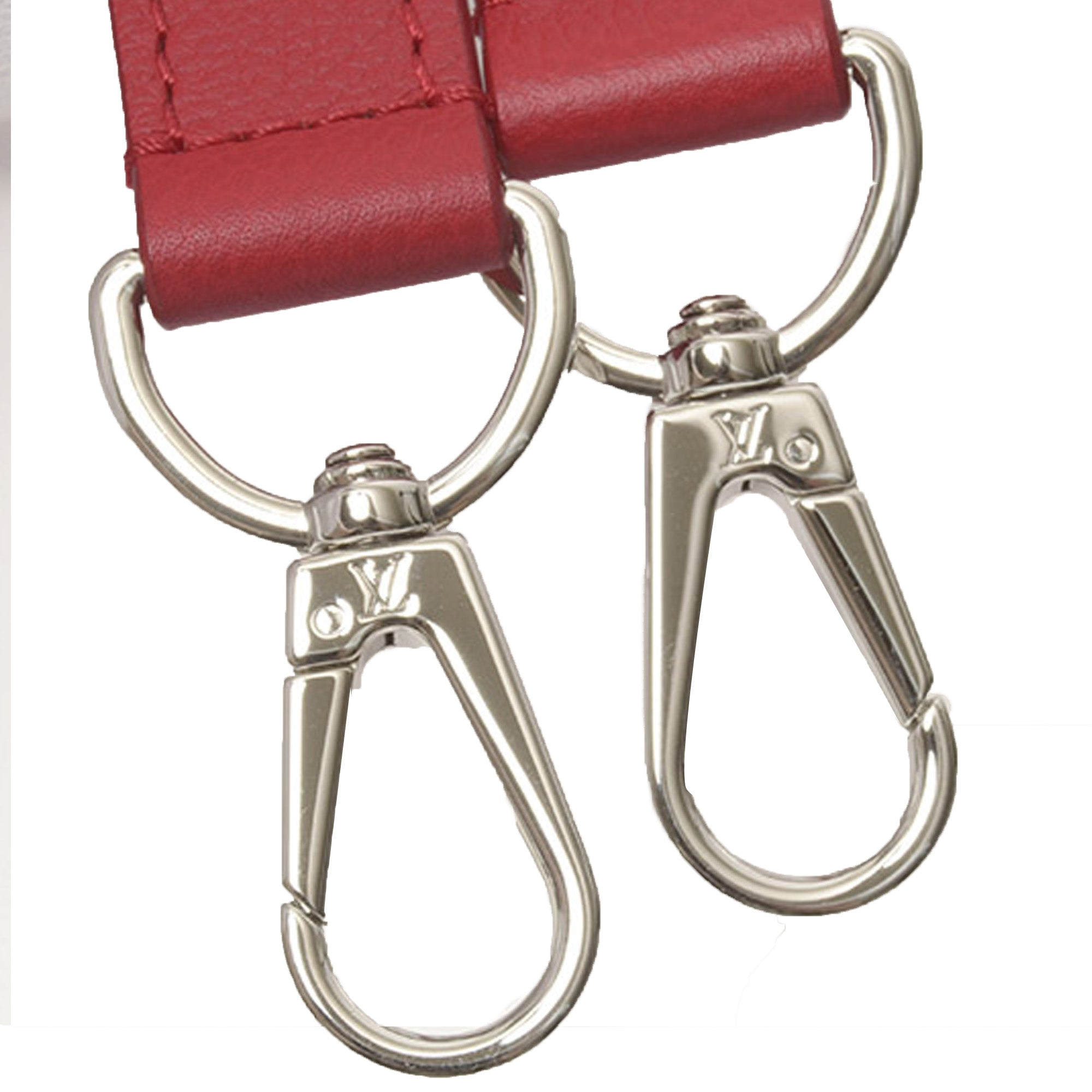 Louis Vuitton Red Leather Adjustable Shoulder Strap