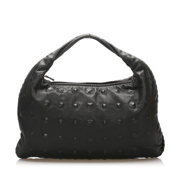 Bottega Veneta Black Studded Leather Hobo Bag
