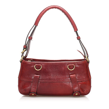 Burberry Red Leather Shoulder Bag
