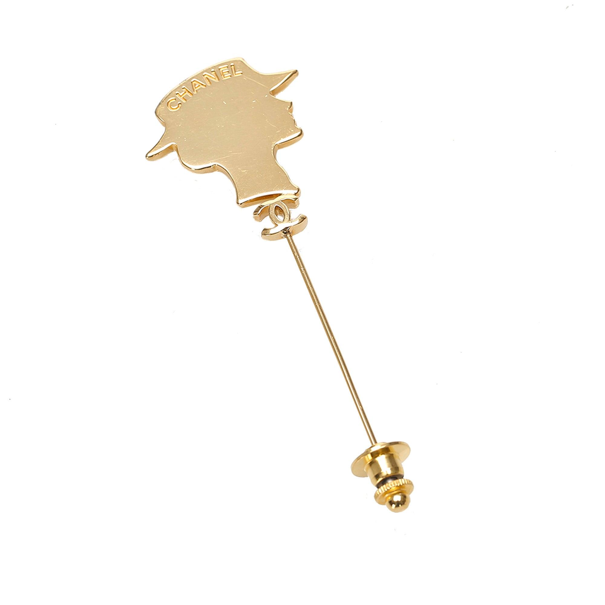 Chanel Gold Mademoiselle Brooch
