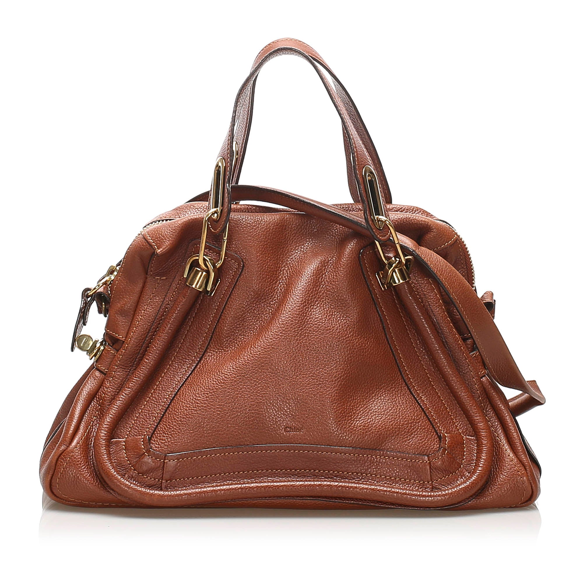 Chloe Brown Paraty Leather Satchel
