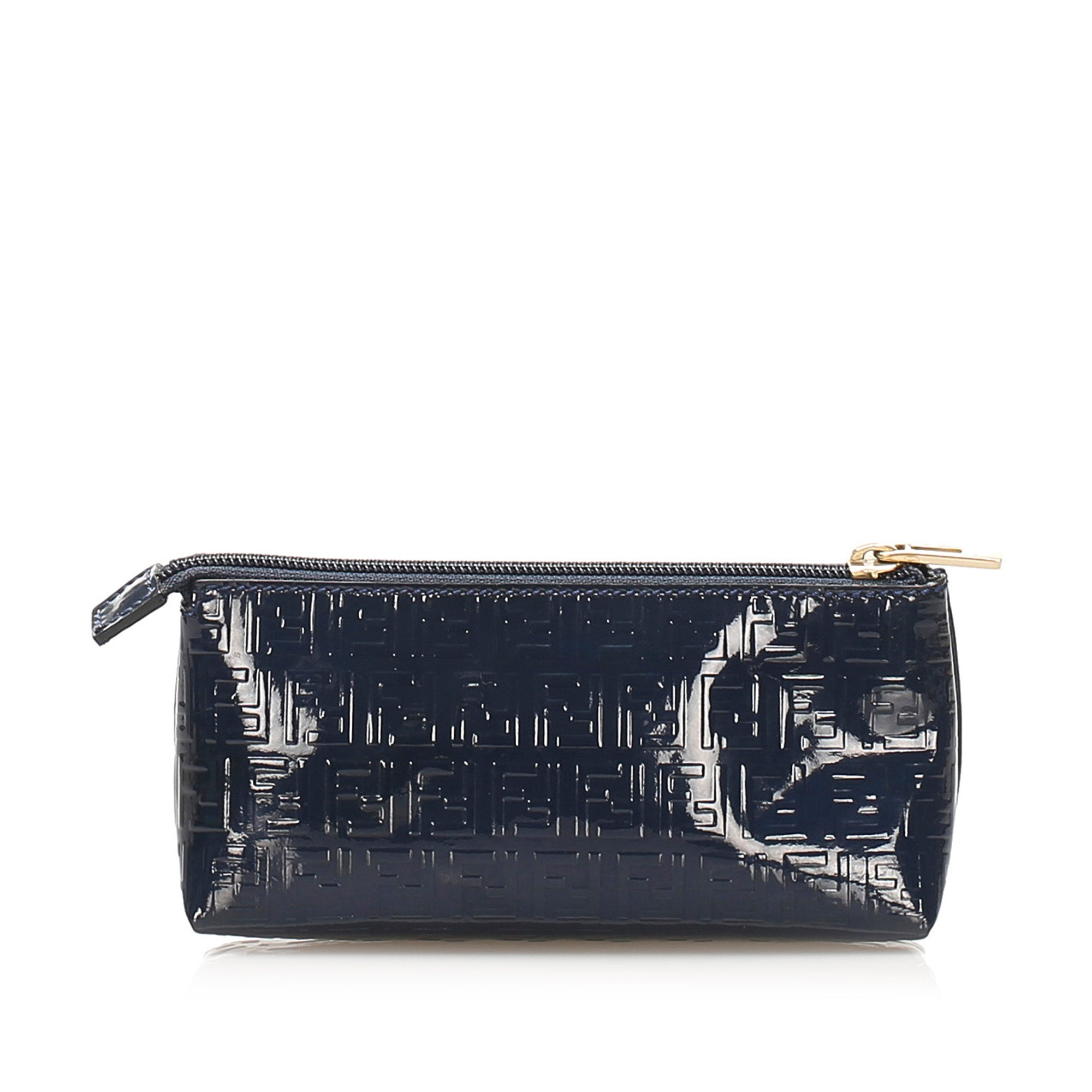 Fendi Blue Zucchino Patent Leather Pouch