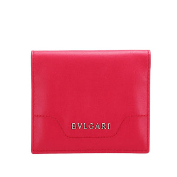 Bvlgari Red Leather Card Case