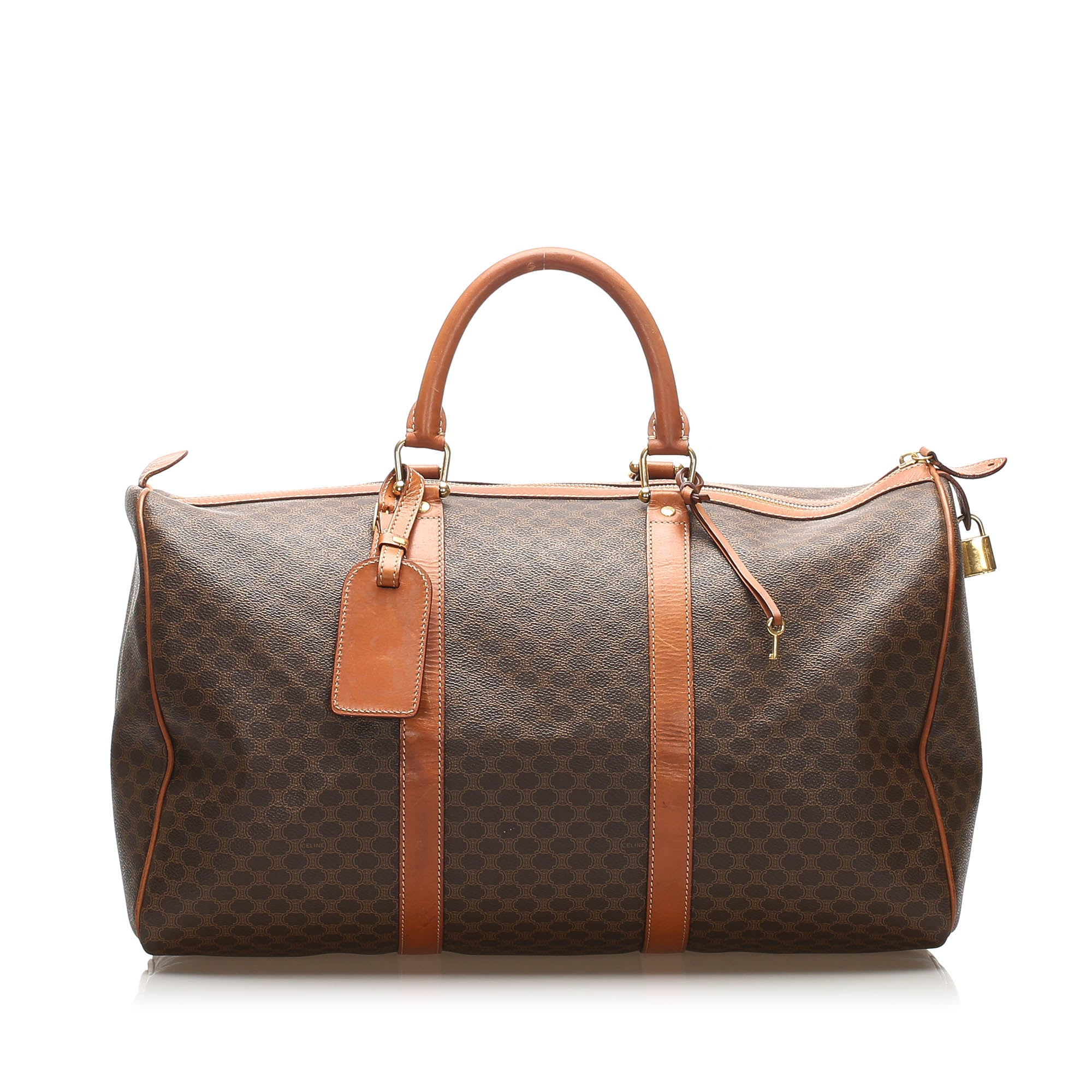 Celine Brown Macadam Travel Bag