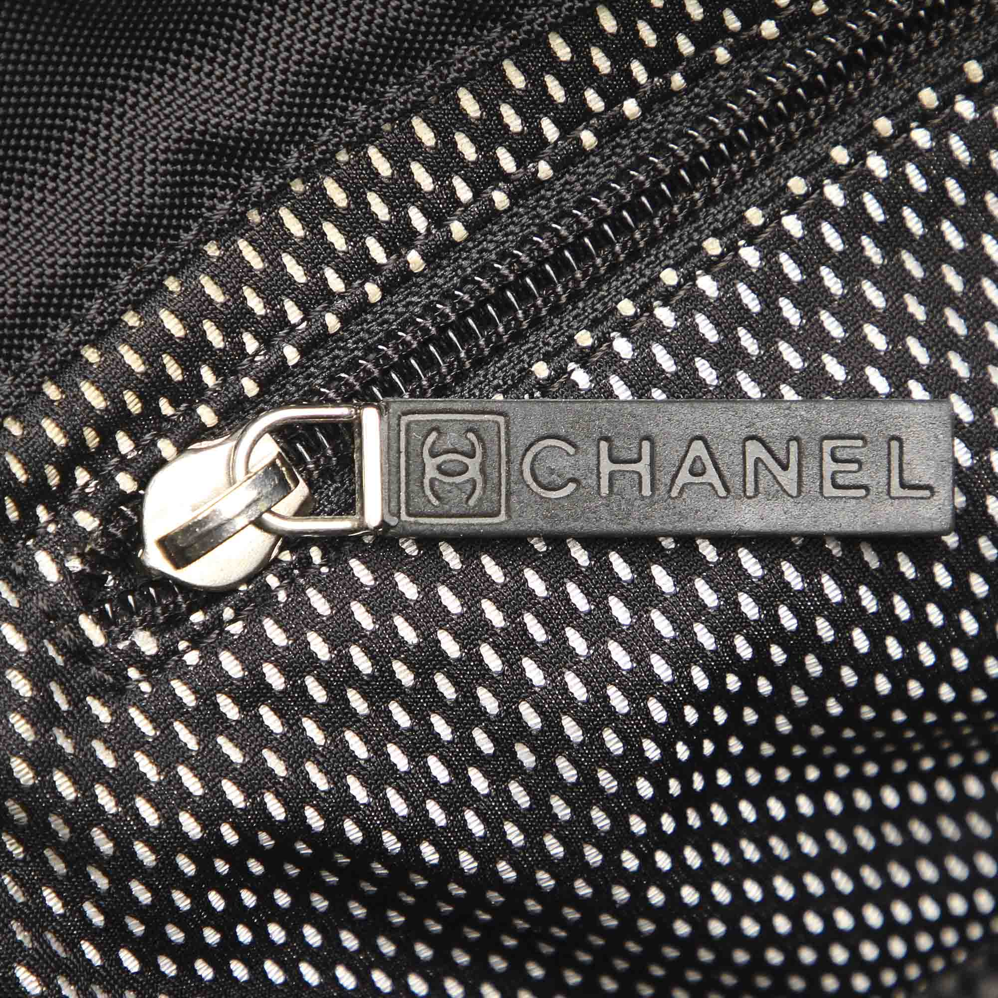 Chanel Black CC Nylon Crossbody Bag