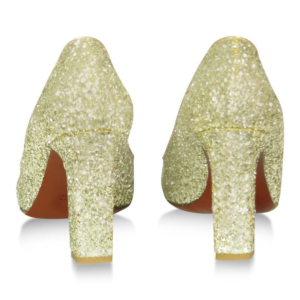 Lanvin Gold Glitter Shoes