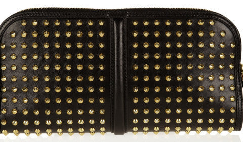 Burberry Prorsum studded Fox themed nappa clutch