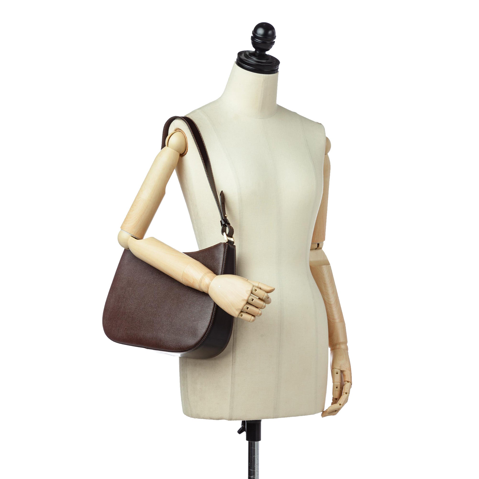 Burberry Brown Leather Shoulder Bag